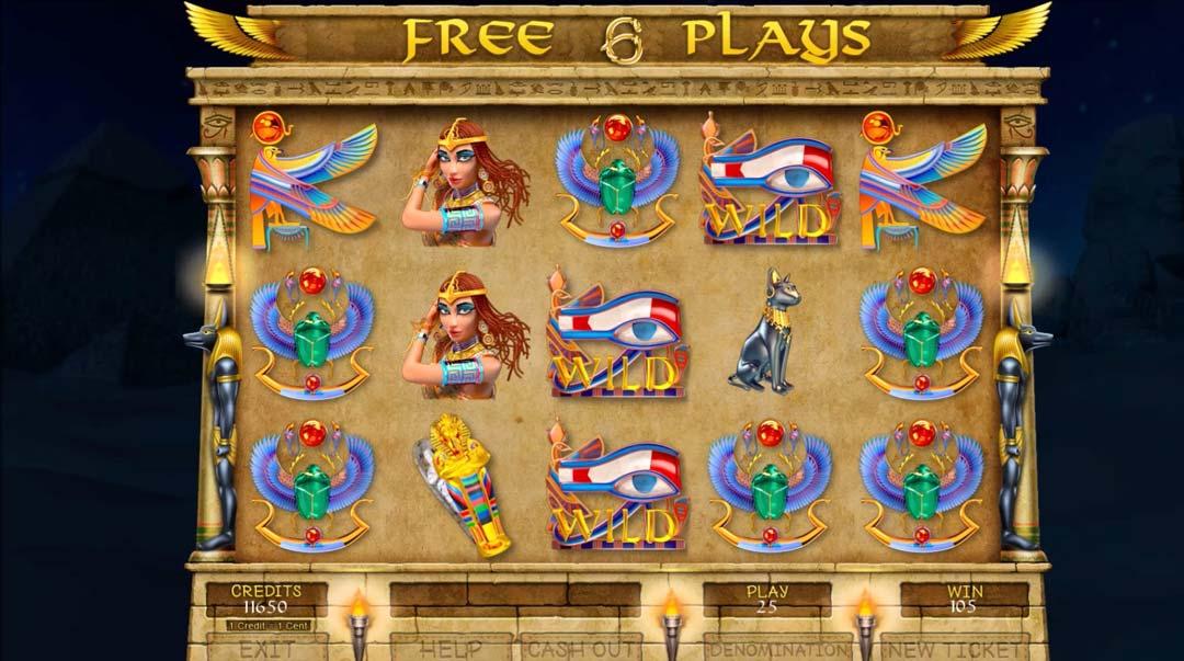 Egyptian-treasures-games-screen-shot-of-bonus-play