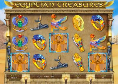 Egyptian Treasures Pull Tab Game