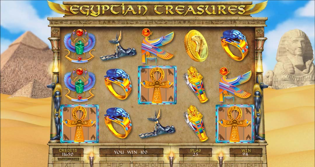 Egyptian-treasures-games-screen-shot-of-spinning-wheel