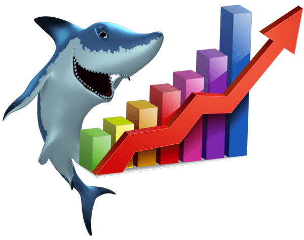 Shark-with-Bar-Graph-showing-Profit