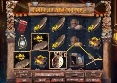 Gold Mining Pull Tab Game