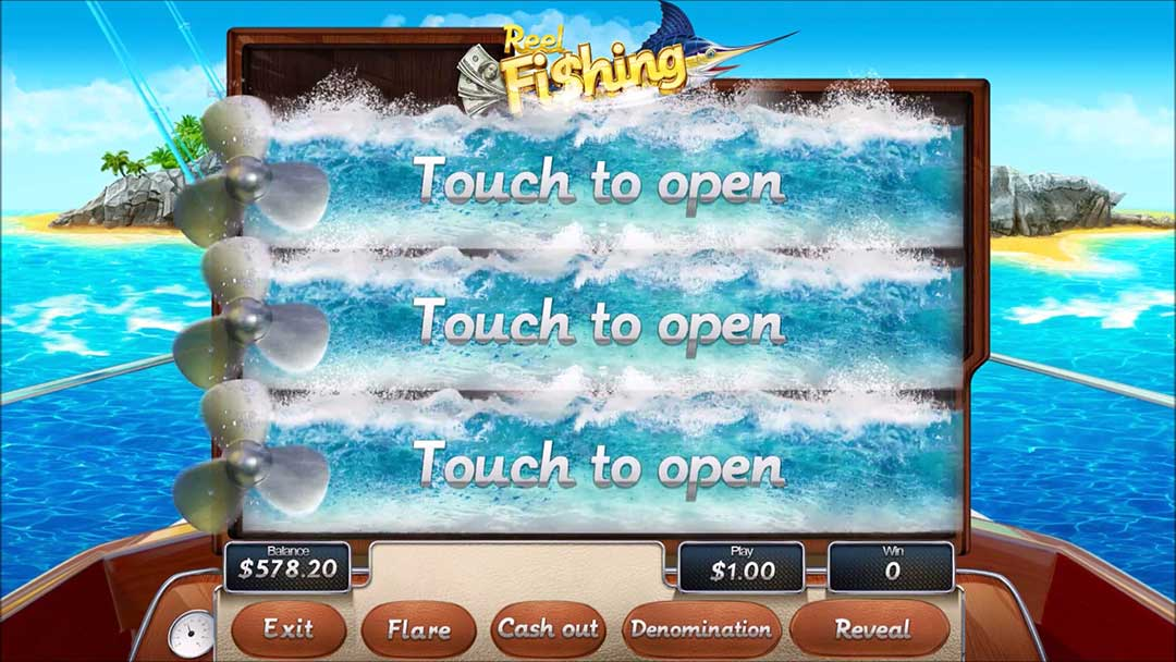 Reel-fishing-touch-screen-shot