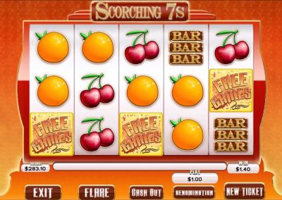 Scorching 7s Pull Tab Game