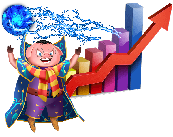 Piggy-Potter-with-Bar-Graph-showing-Profit