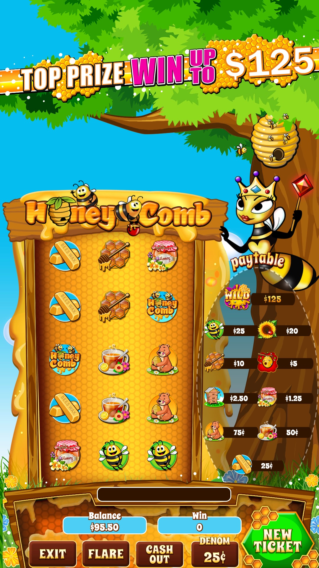 Honeycomb-pull-tab-game-screen-shot-Hero