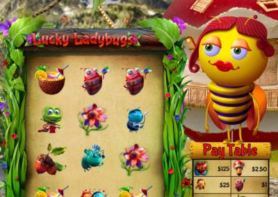 Lucky Ladybugs Vertical Pull Tab Game