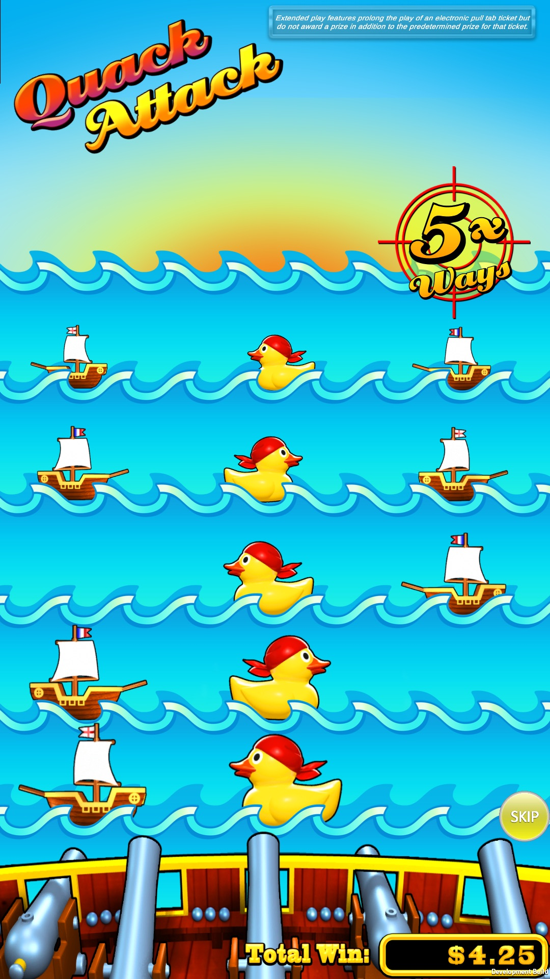Quack-attack-vertical-pull-tab-screen-shot-bonus