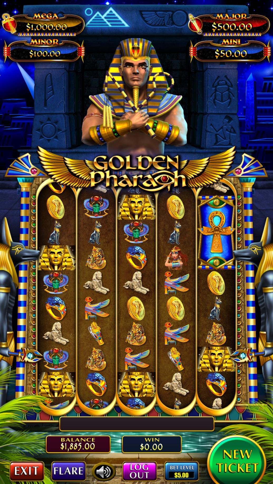 Golden Pharaoh Vertical Pull Tab Game