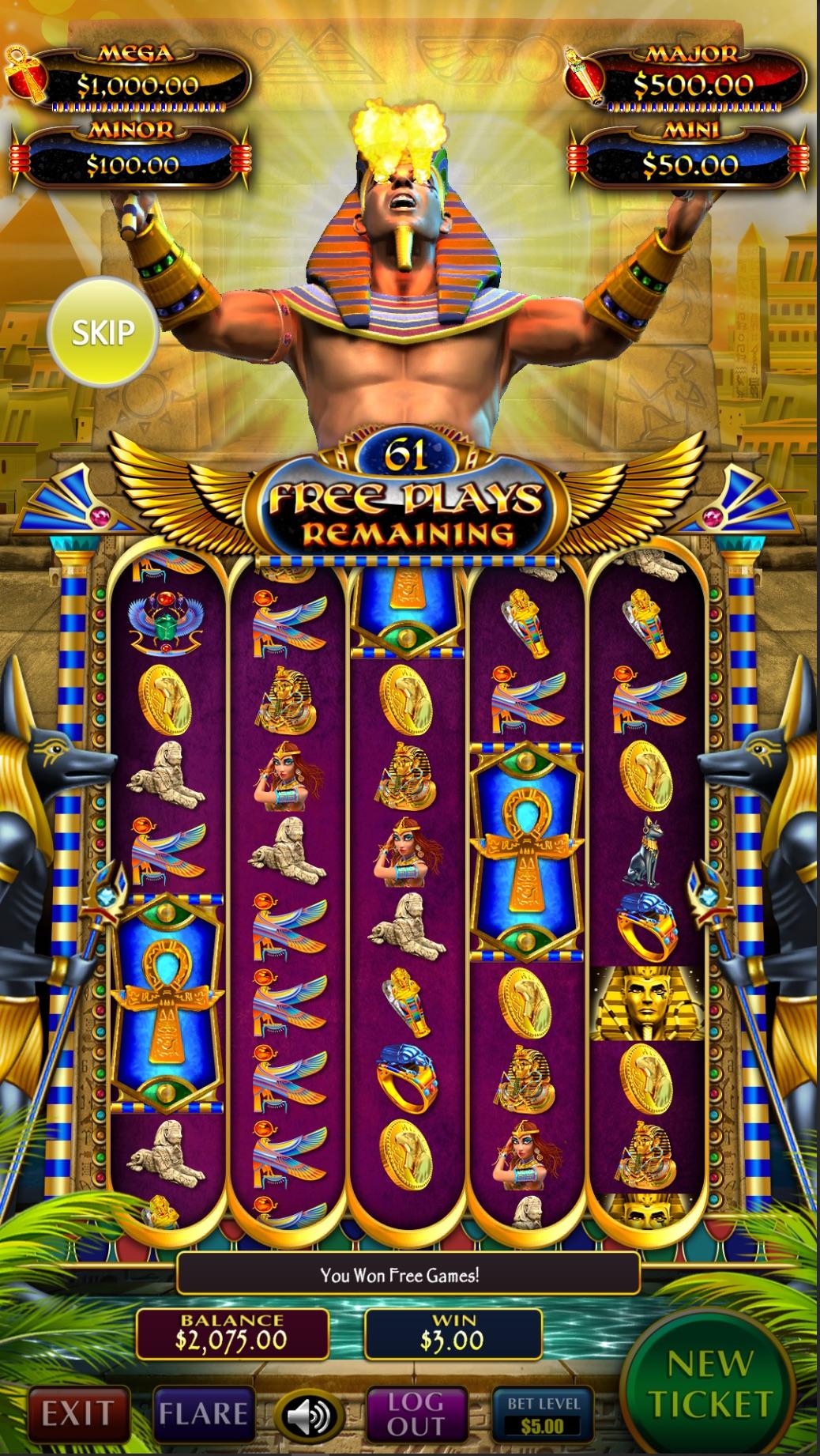 Golden-Pharaoh-Vertical-pull-tab-game-screen-shot