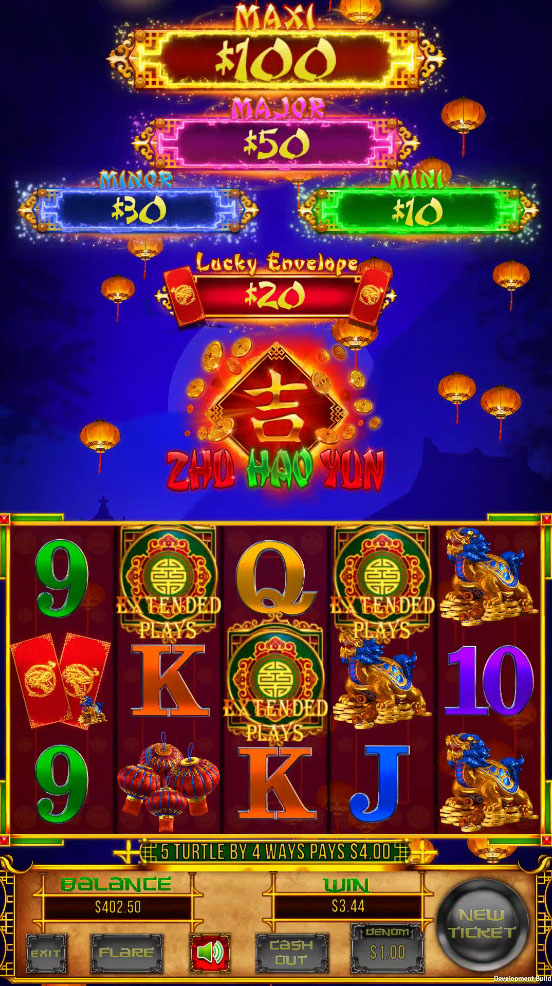 Zhu Hao Yun Vertical Pull Tab Game