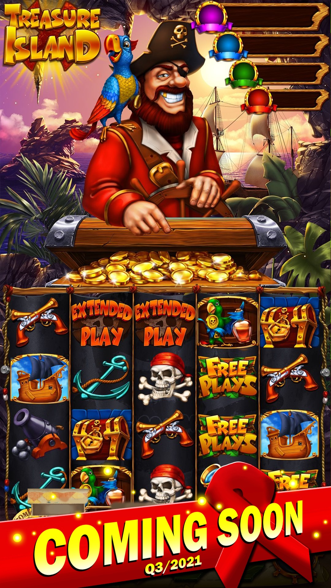 Treasure Island Pull Tab Game