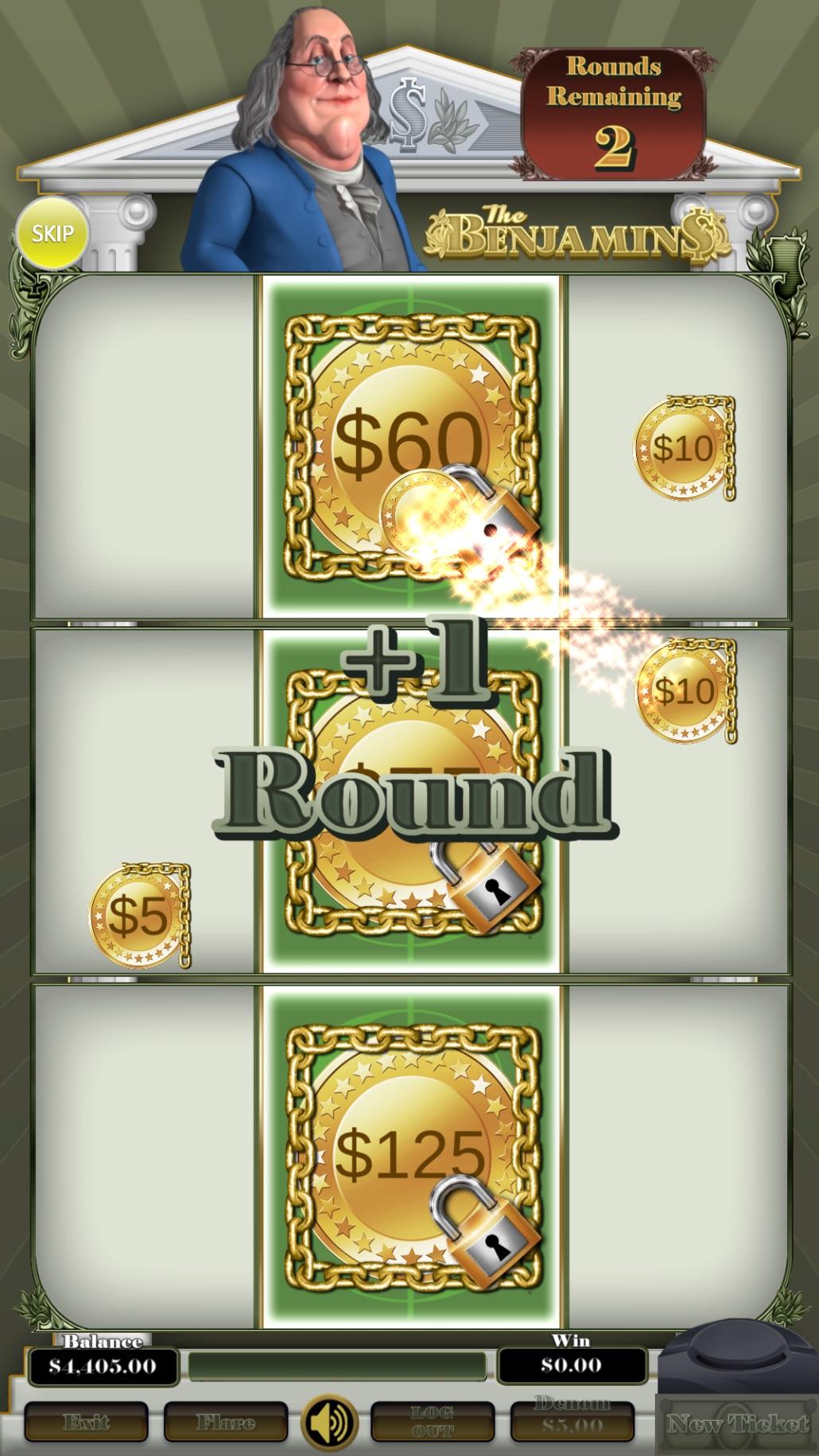 Benjamins-vertical-pull-tab-pick-and-win-screen